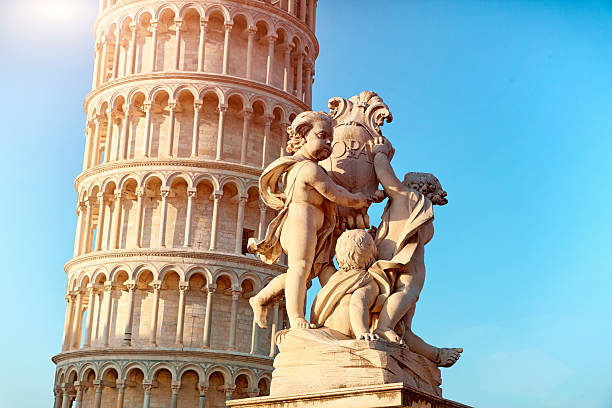 Piazza Dei Miracoli - Pisa. Italy The very well known landmark of Pisa. Leaning tower. pisa stock pictures, royalty-free photos & images