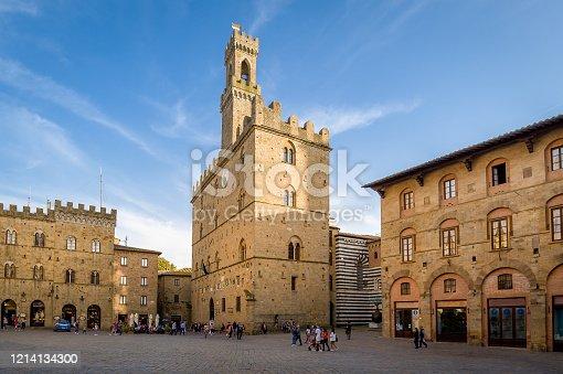 Volterra central square - Piazza dei Priori, Tuscany, Italy