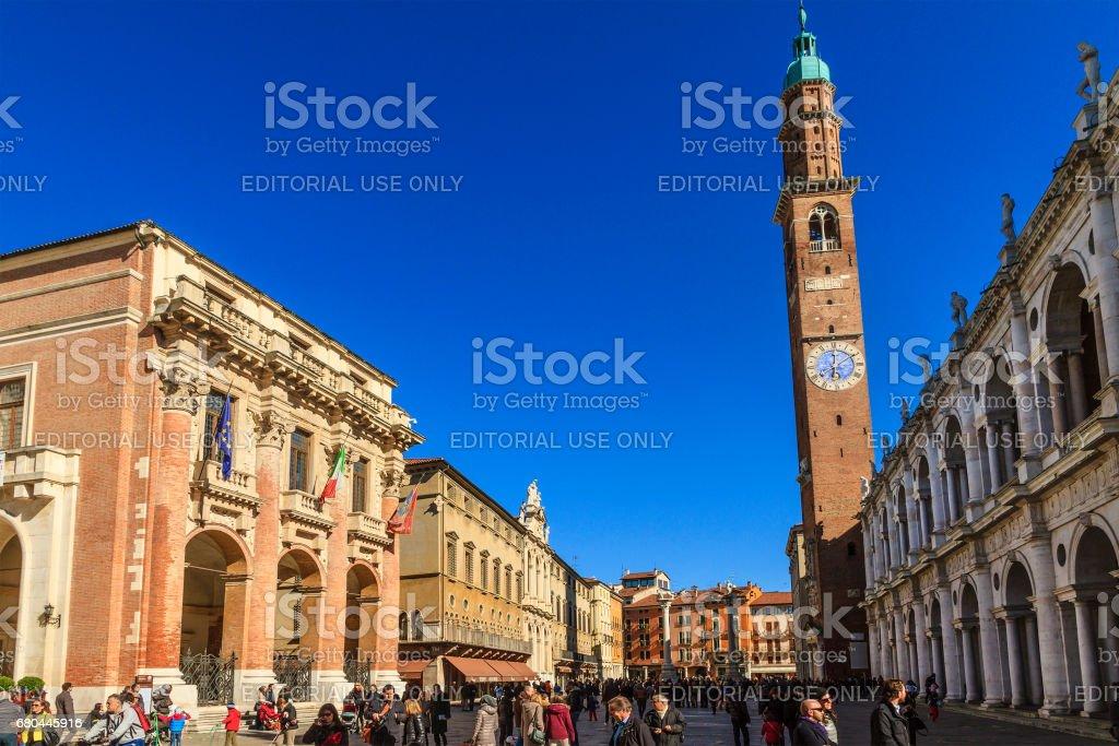 Piazza dei Signori, Vicenza - Italy stock photo