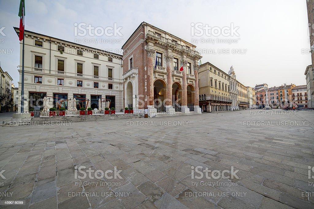 Piazza dei Signori (Square of Lords). Vicenza-Italy. stock photo