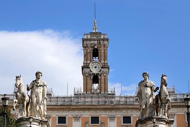 Piazza del Campidoglio in Rome, Italy stock photo