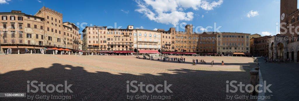 Piazza del Campo in Siena (Italy) stock photo