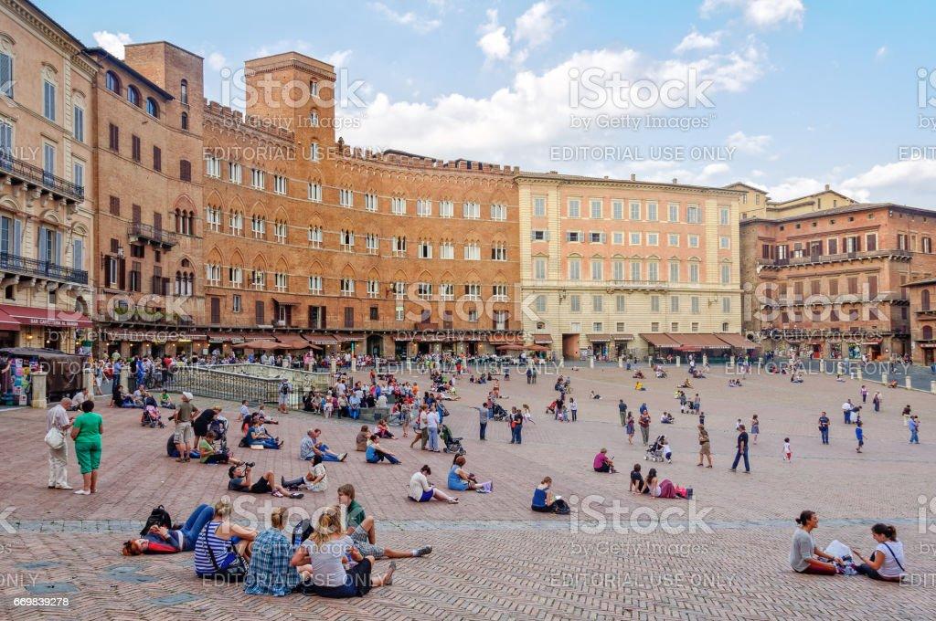 Piazza del Campo - Siena stock photo
