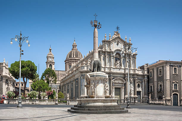 Piazza del Duomo and Cathedral of Santa Agatha in Catania