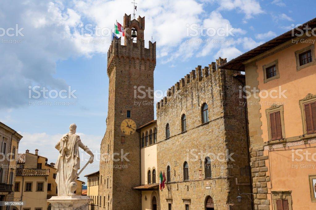 Piazza del Duomo, Arezzo, Tuscany, Italy - foto stock