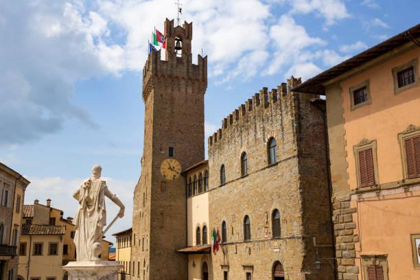 Piazza del Duomo, Arezzo, Tuscany, Italy stock photo
