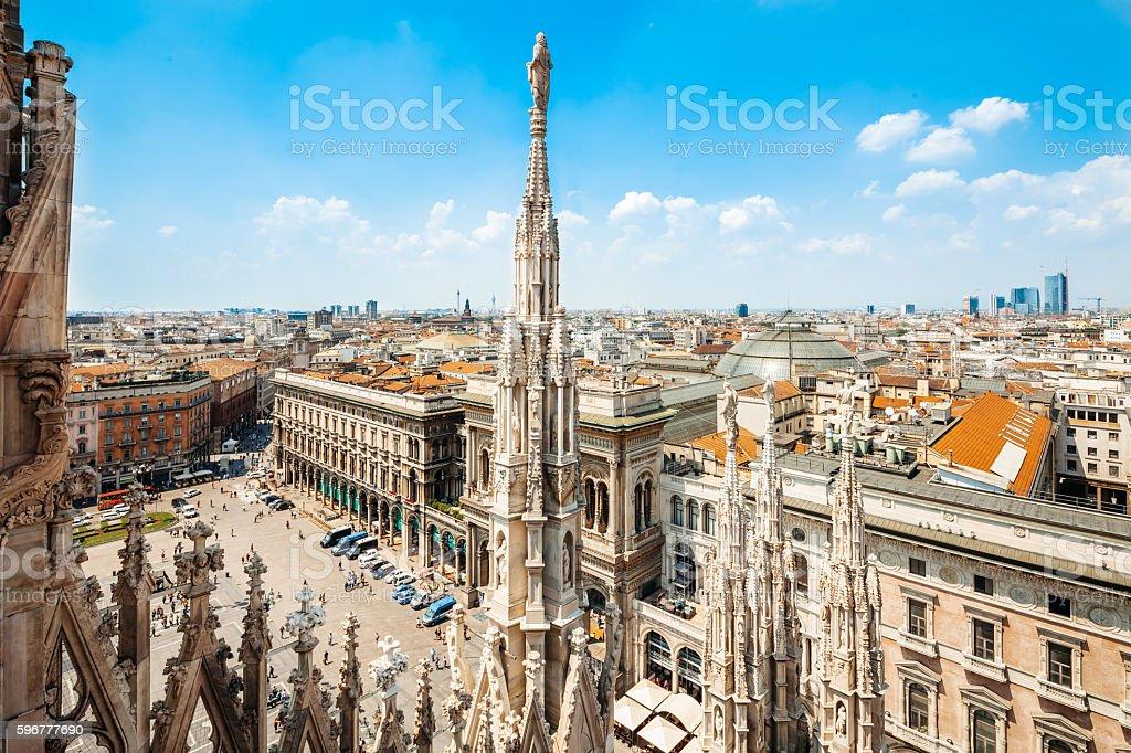 del di Piazza Duomo a Milano, Italia - foto stock