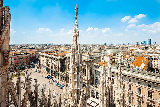 Piazza del Duomo in Milan, Italy stock photo