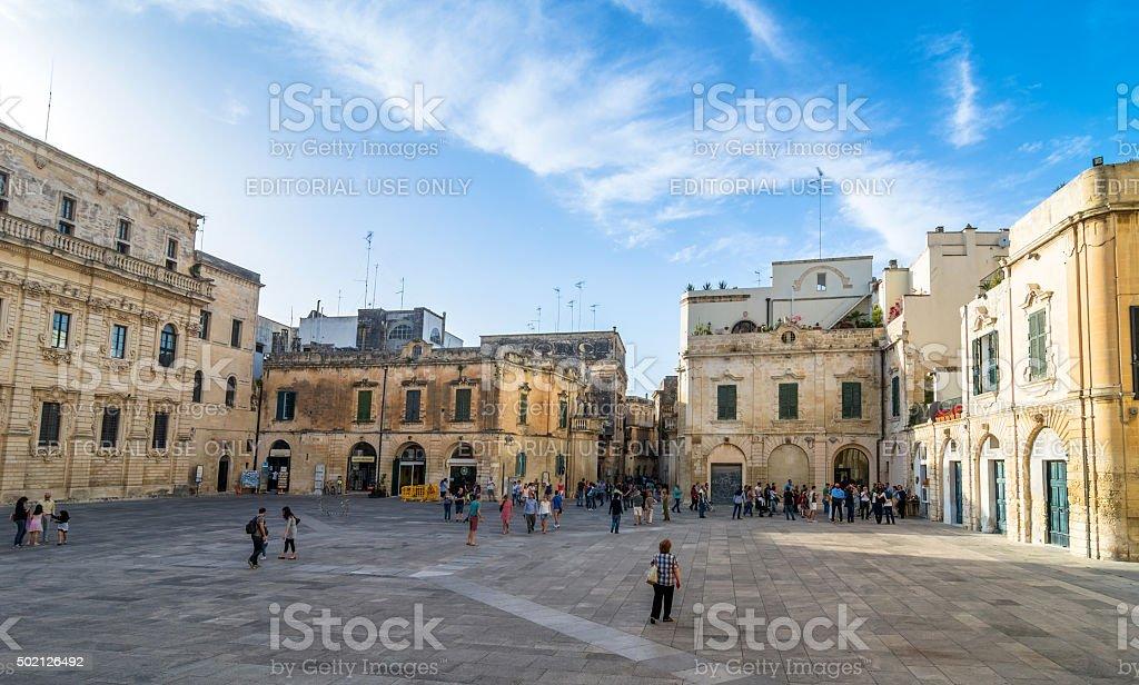Piazza del Duomo square in Lecce stock photo