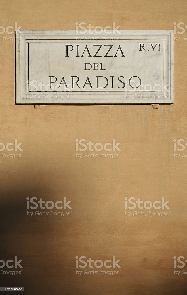 Piazza del Paradiso -  Paradise Square royalty-free stock photo