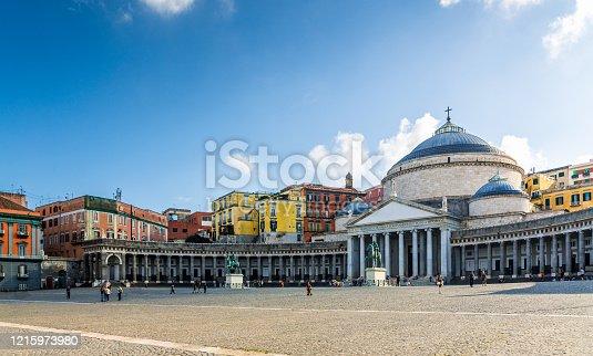 San Francesco di Paola Church on Naples main square - Piazza del Plebiscito. Photo taken with Canon 5D Mark IV