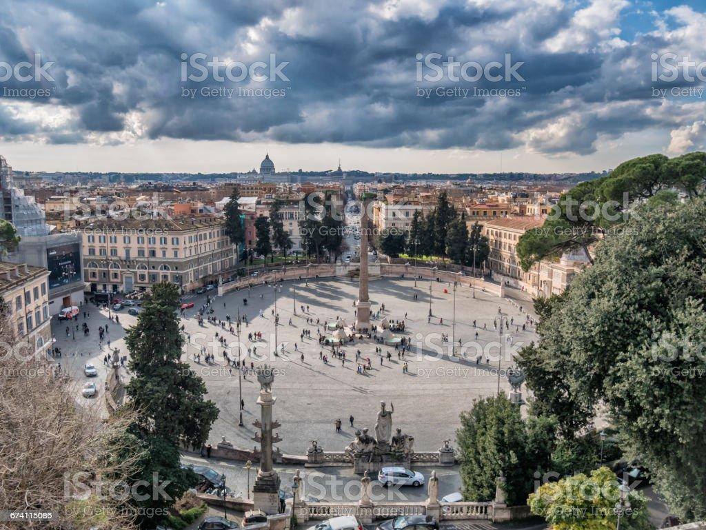 Piazza del Popolo in Rome 免版稅 stock photo