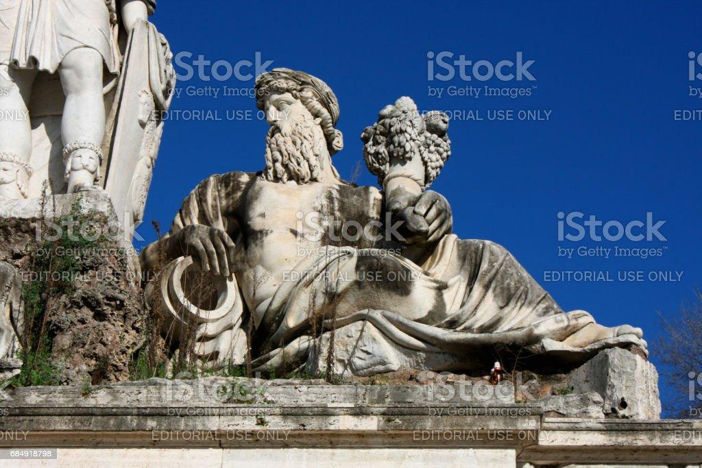 Piazza del Popolo (People's Square) named after the church of Santa Maria del Popolo in Rome, Italy stock photo