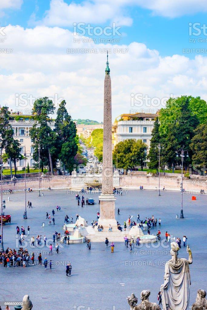 ROME, ITALY, 24 APRIL 2017. Piazza del Popolo. stock photo