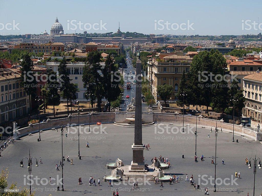 Piazza del Popolo, Rome, Italy royalty-free stock photo