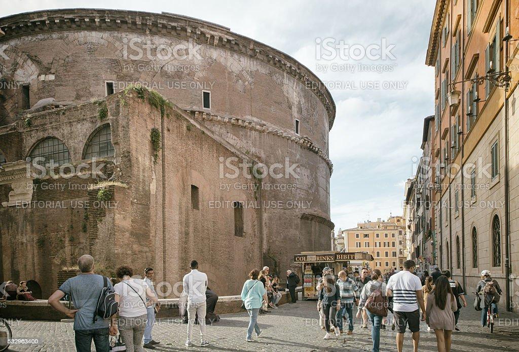 Piazza della Minerva, Rome stock photo