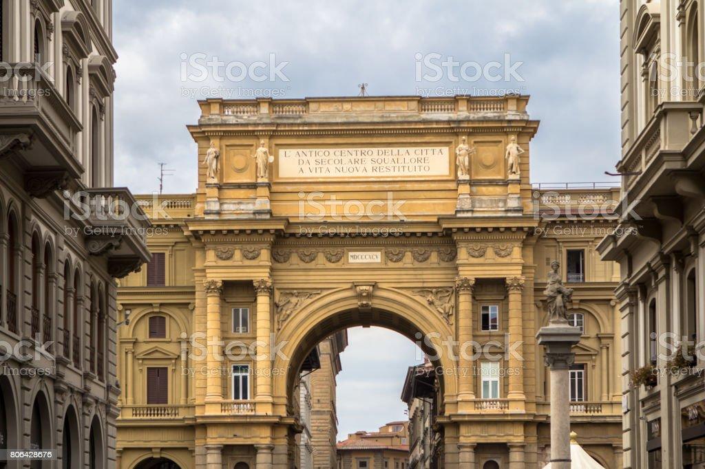 Piazza della Repubblica, Florence, Italy stock photo