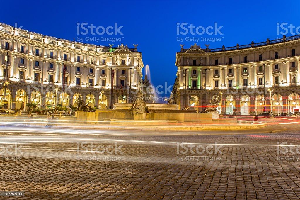 Piazza della Repubblica stock photo