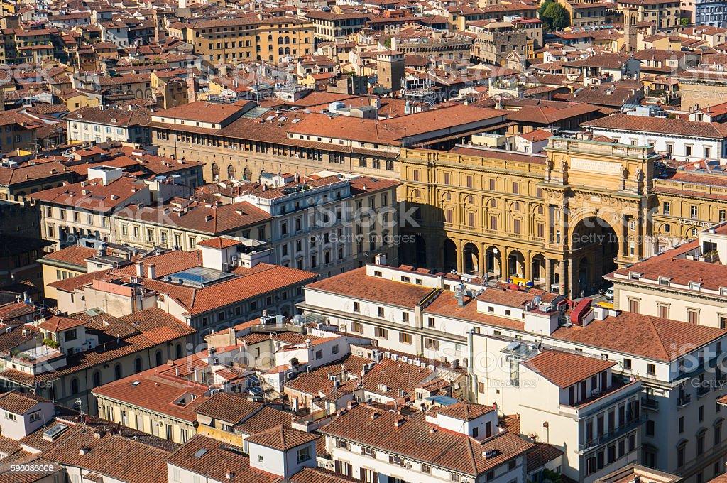 Piazza della Repubblica top view royalty-free stock photo