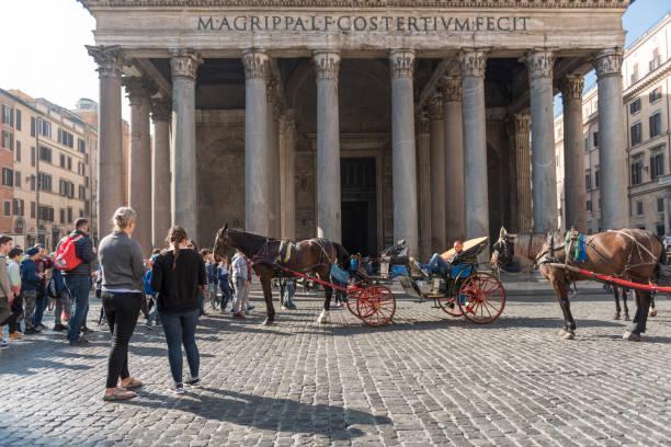 Piazza della Rotunda in Rome in Italy stock photo