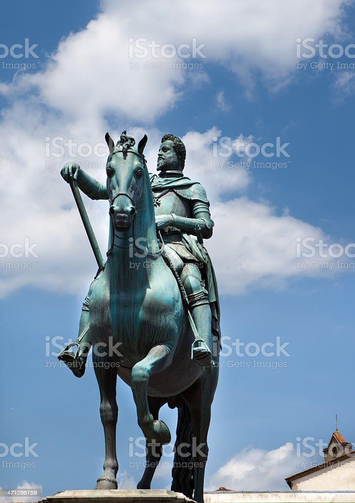 Piazza della santissima annunziata royalty-free stock photo