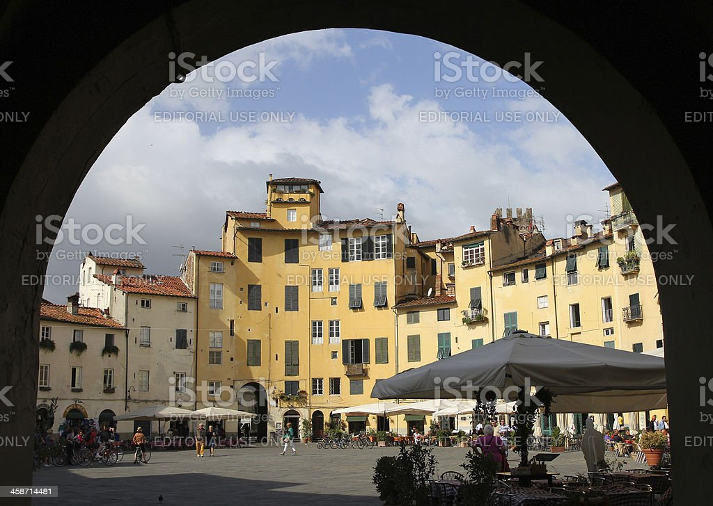 Piazza dell'anfiteatro stock photo