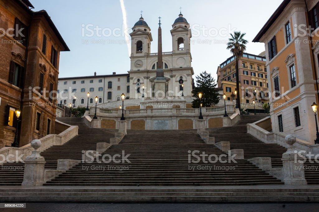 Piazza Di Spagna in Rome stock photo