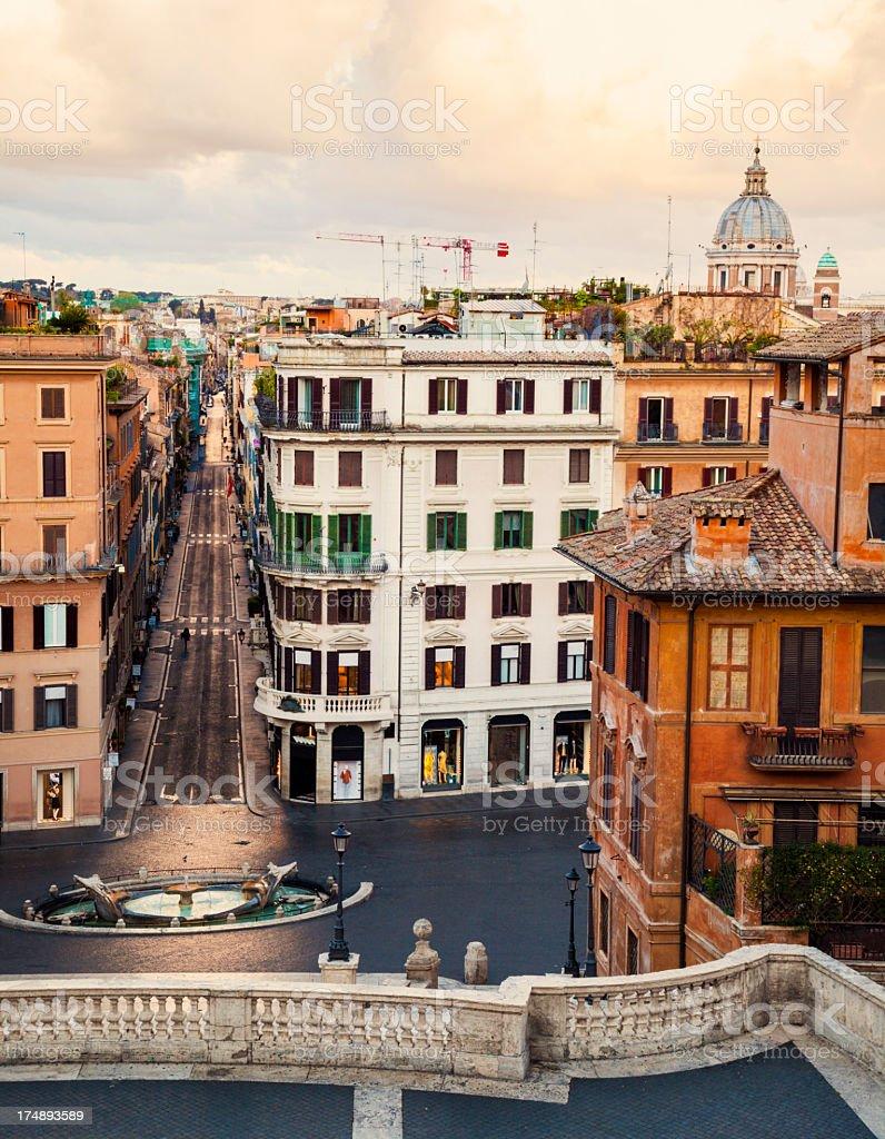 Piazza di Spagna, Rome, Italy stock photo