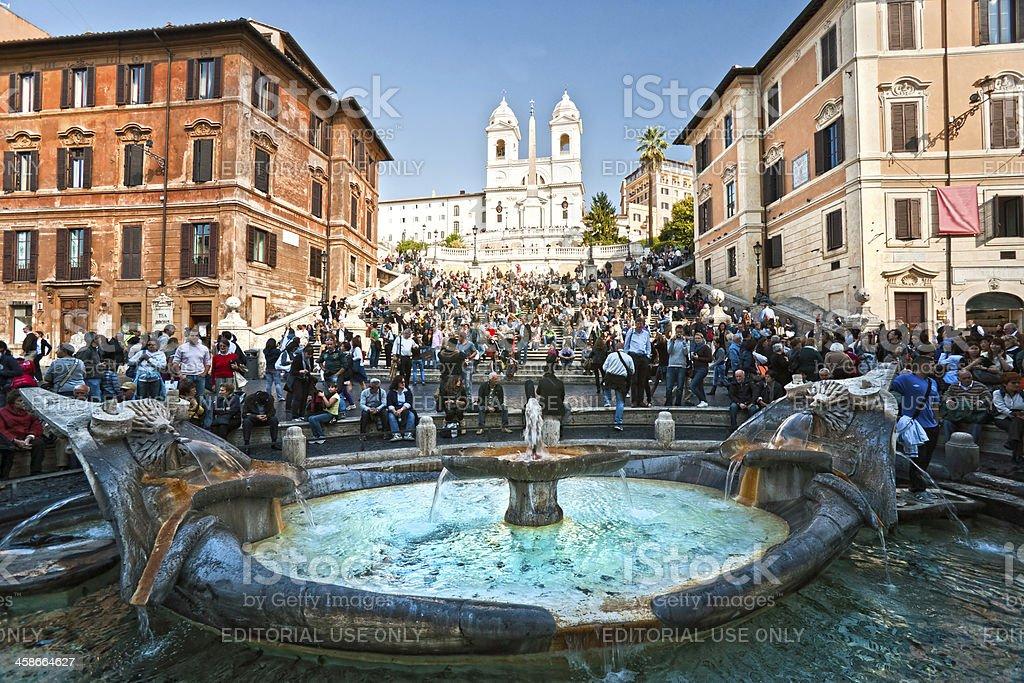 Piazza di Spagna, rome, Italy. stock photo