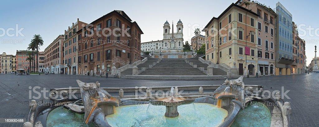 Piazza di Spagna, Spanish Steps, Rome stock photo