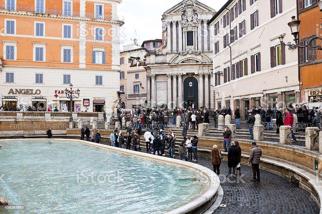 Piazza di Trevi in Rome royalty-free stock photo