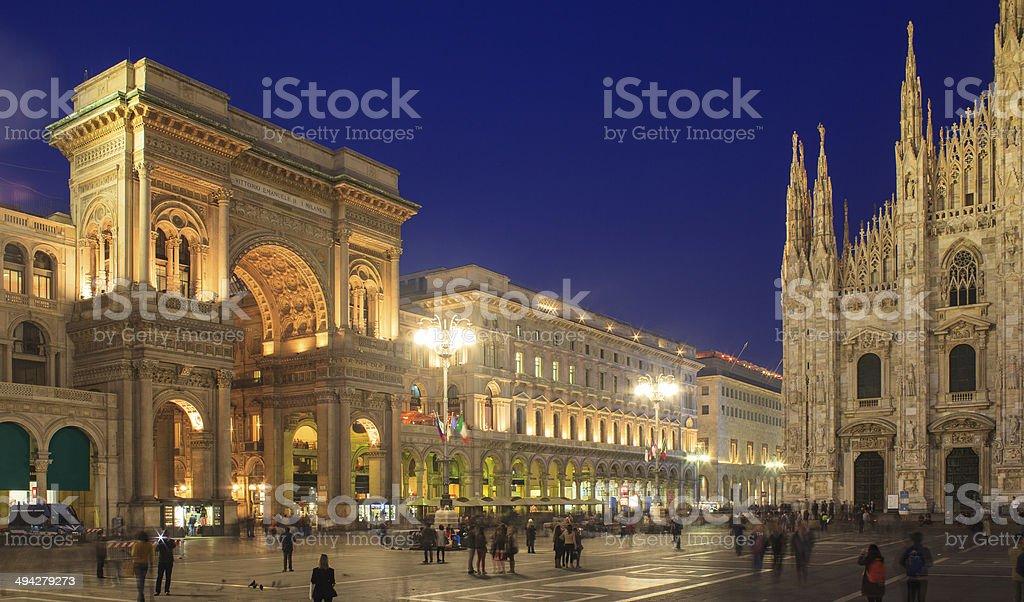 Piazza Duomo, Milan stock photo