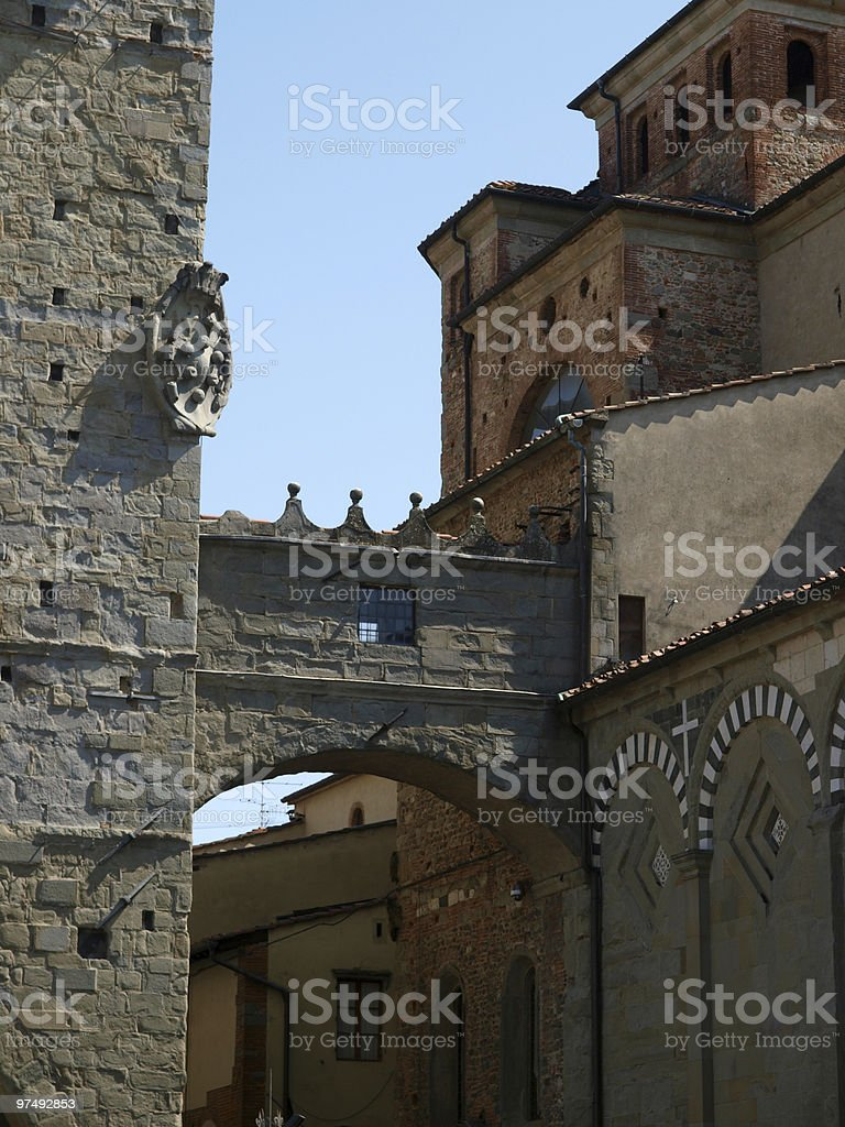 Piazza Duomo - Pistoia royalty-free stock photo