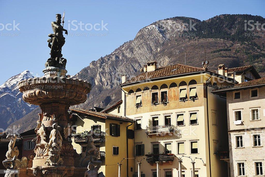 Piazza Duomo Trento stock photo