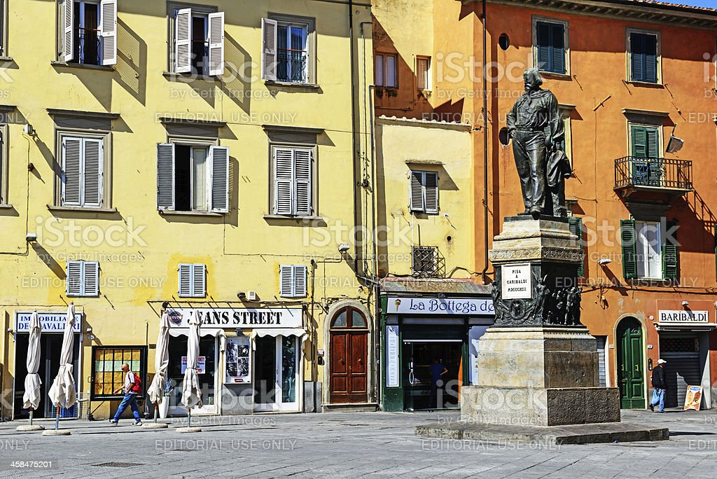 Piazza Garibaldi,  Pisa, Italy royalty-free stock photo