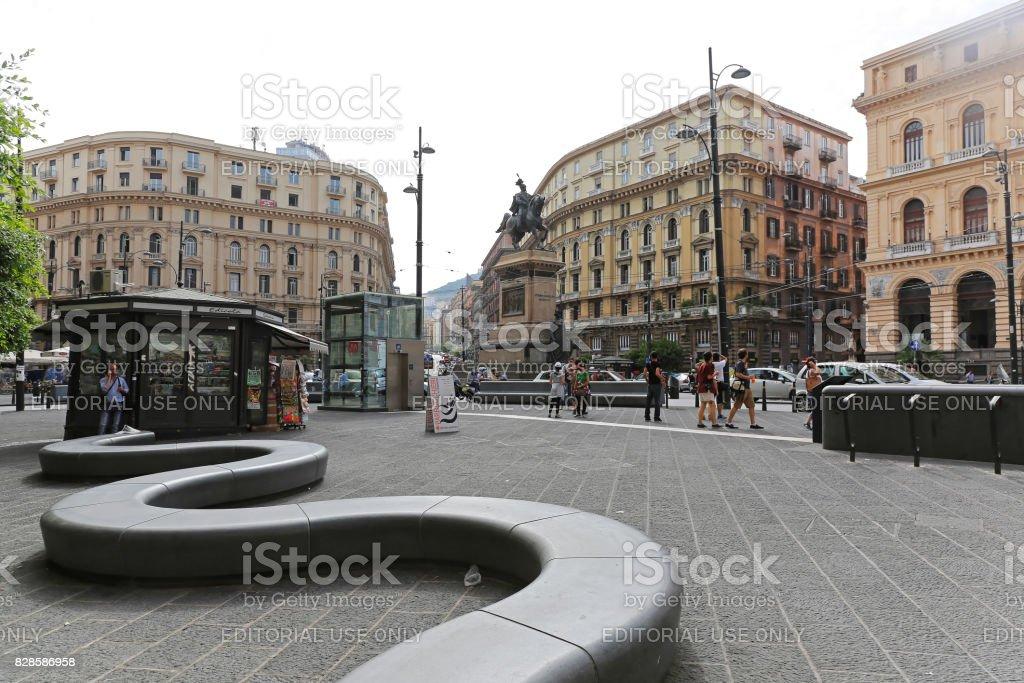 Piazza Giovanni Bovio Napoli stock photo