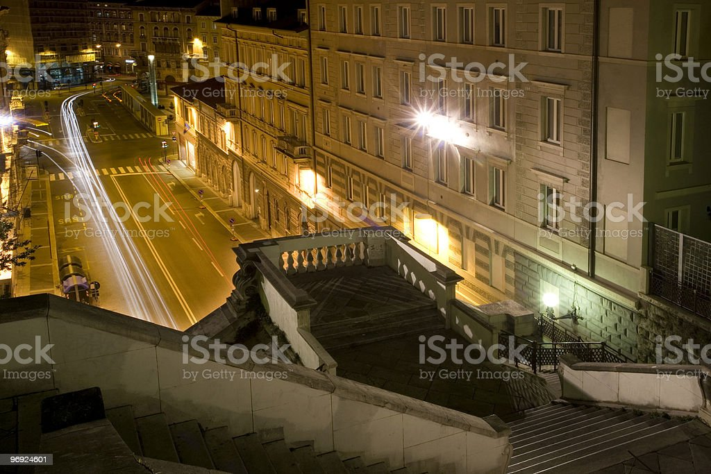 Piazza Goldoni at Trieste royalty-free stock photo