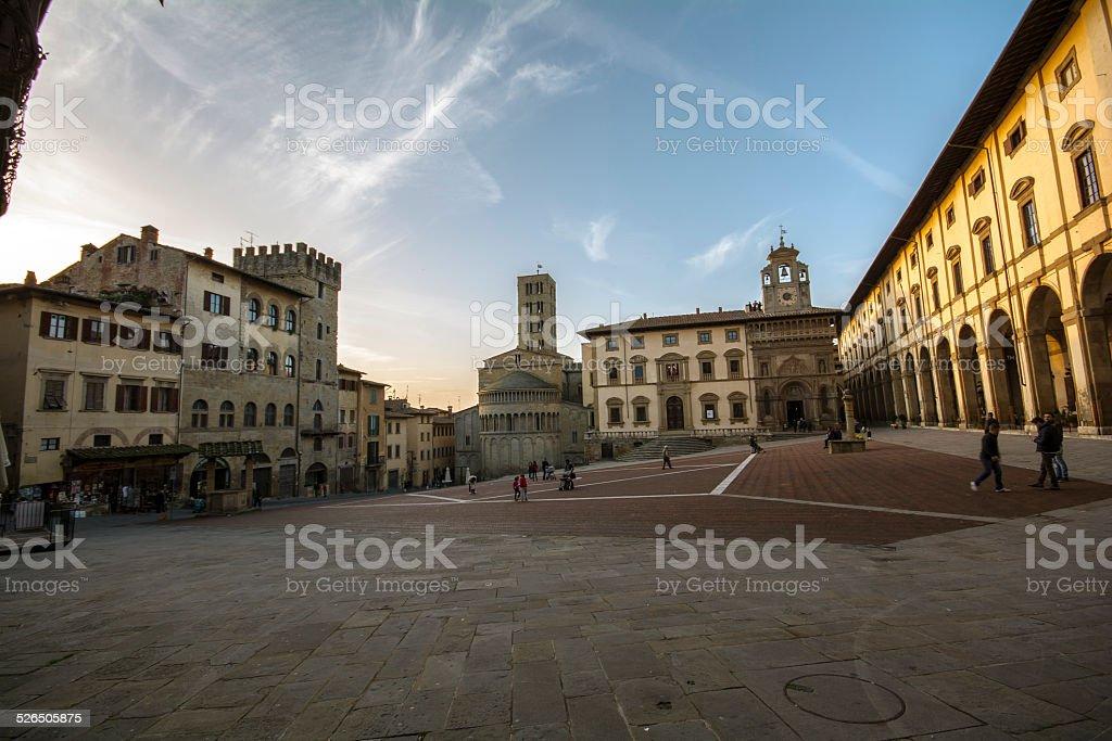 piazza grande Arezzo - foto stock