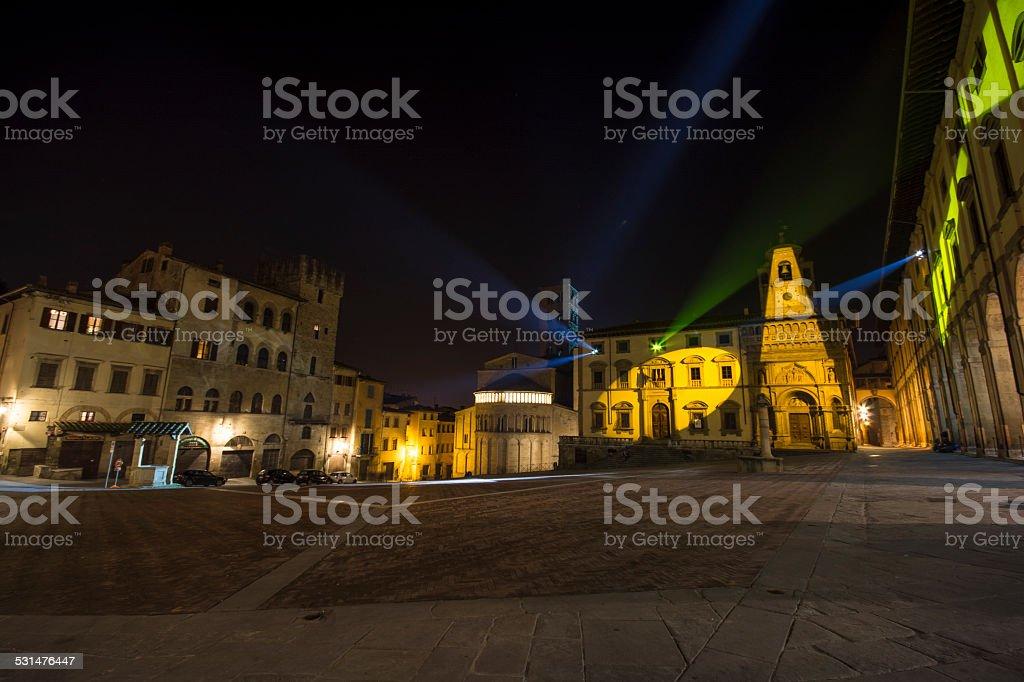 piazza grande arezzo stock photo