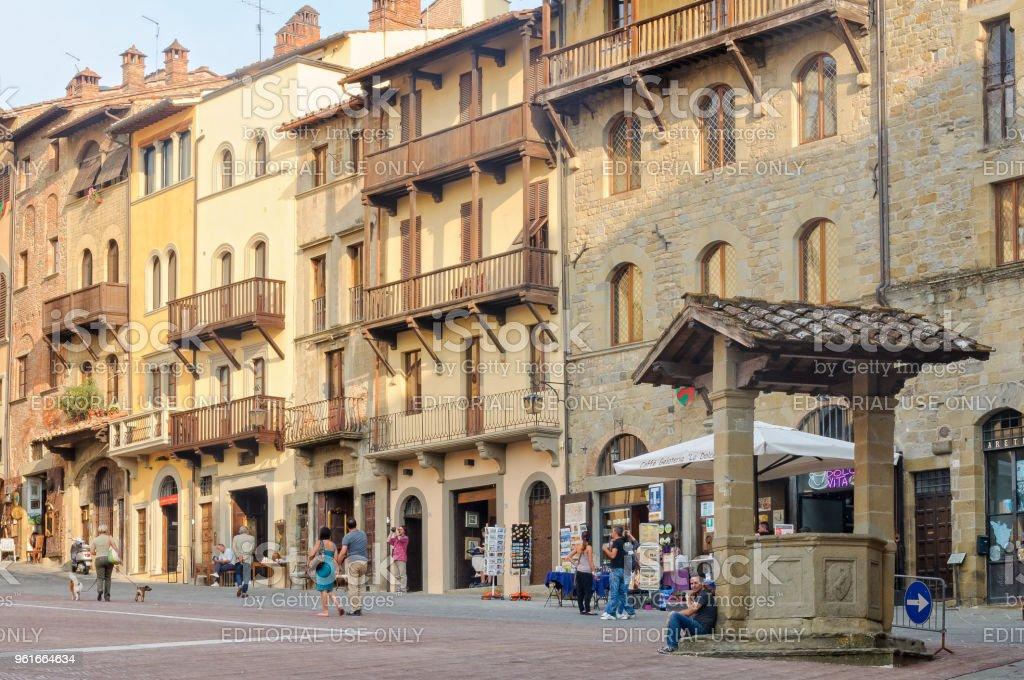 Piazza Grande - Arezzo stock photo