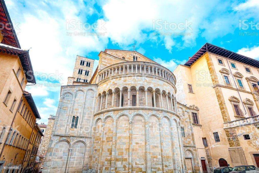 Piazza Grande, the Tournament Square of Arezzo (Tuscany) - foto stock