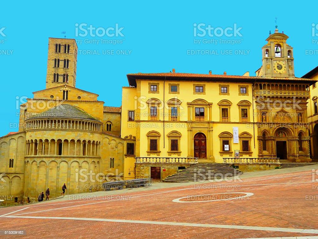 Piazza Grande, Arezzo, Italia - foto stock