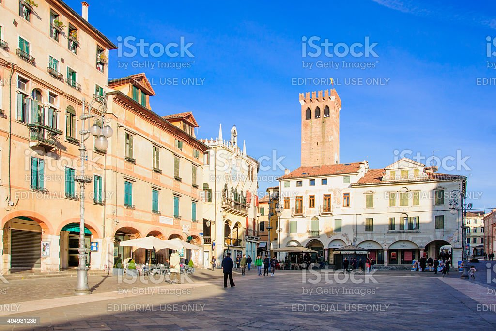 Piazza libertà, Bassano del Grappa - foto stock