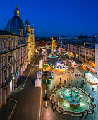 istock Piazza Navona in Rome during Christmas time. Italy. 1136421176