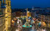 istock Piazza Navona in Rome during Christmas time. Italy. 1136421240