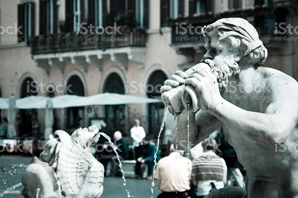 Piazza Navona in Rome royalty-free stock photo