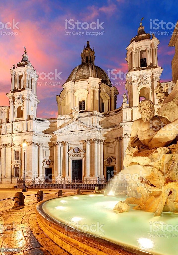Piazza Navona, Rome. Italy stock photo