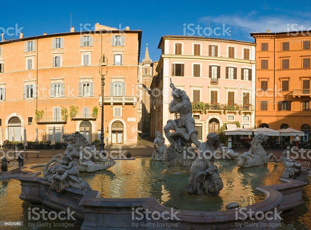 Piazza Navona, Rome royalty-free stock photo