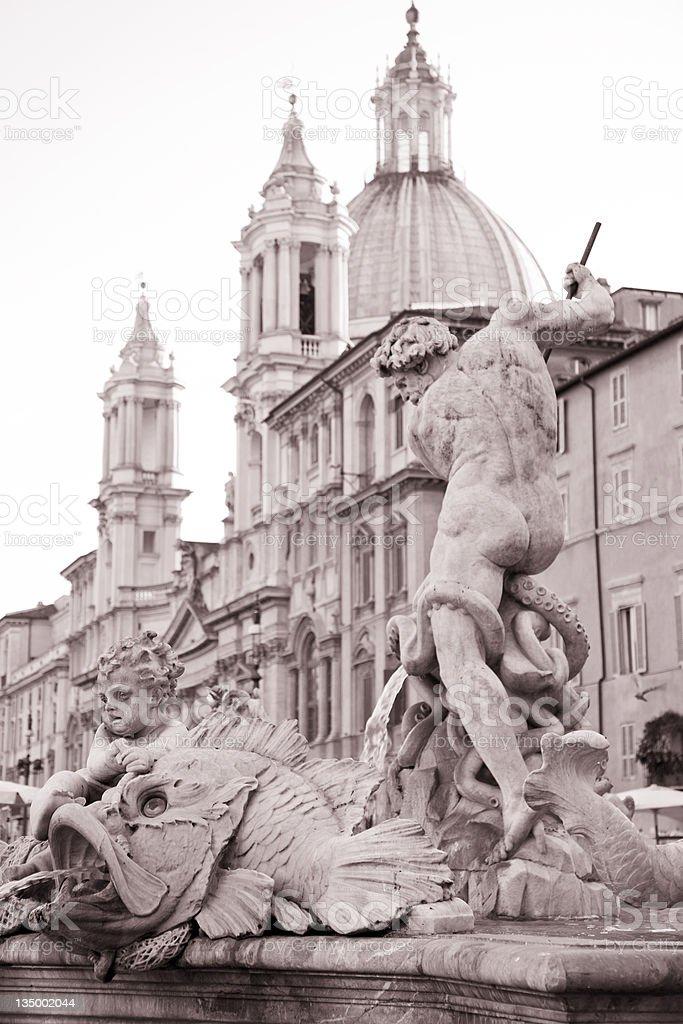 Piazza Navona Square, Rome, Italy royalty-free stock photo