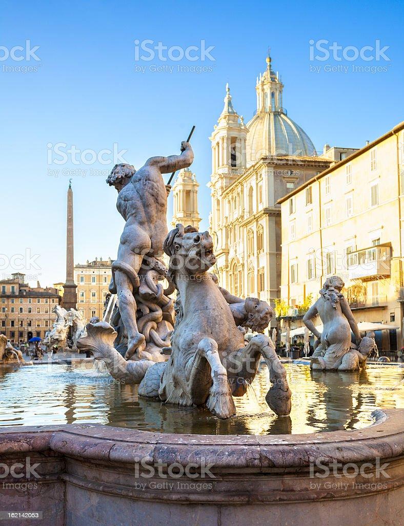 Piazza Novona, Rome royalty-free stock photo